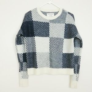Abercrombie & Fitch Crew Checkered Sweater S #3696